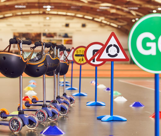 Image of scooter squad setup at David Lloyd Clubs