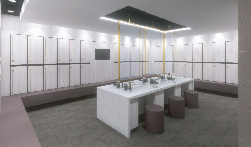 Image of concept of changing rooms at Harbour Club Chelsea