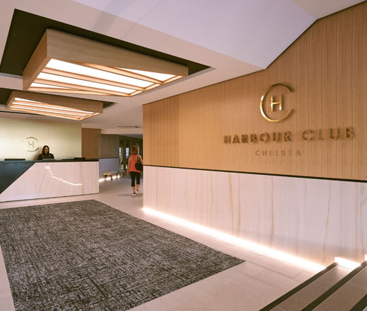 Image of reception at Harbour Club Chelsea